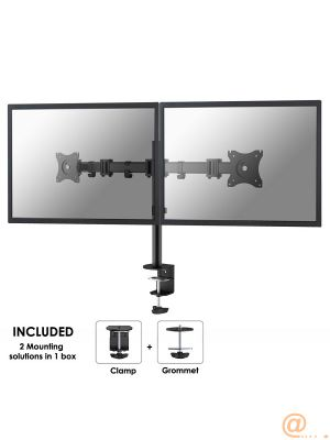 Desk Mount 10-27'' Tilt/Rotate/Swiv BLACK