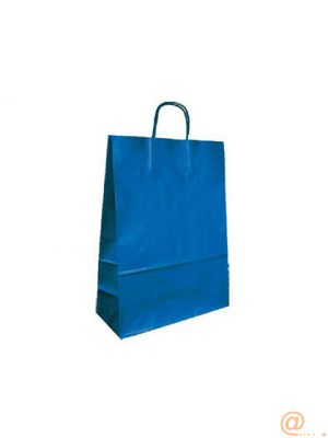 BOLSA KRAFT Q-CONNECT AZUL ASA RETORCIDA 420X190X480 MM