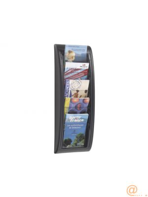 EXPOSITOR MURAL FAST-PAPERFLOW DIN A5 NEGRO 5 CASILLAS 650X228X95 MM