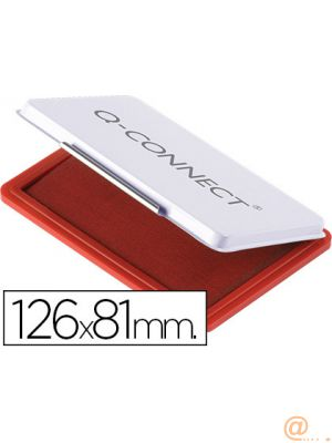 TAMPON Q-CONNECT N.1 126X81 MM ROJO
