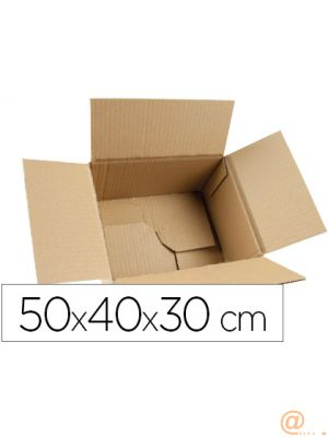CAJA PARA EMBALAR Q-CONNECT FONDO AUTOMATICO MEDIDAS 500X400X300 MM ESPESOR CARTON 3 MM