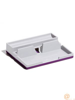 ORGANIZADOR SOBREMESA DURABLE VARICOLOR SMART OFFICE PLASTICO GRIS/MORADO 50X190X240 MM