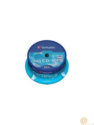 CD-R VERBATIM CAPACIDAD 700MB VELOCIDAD 52X PACK 25 UNIDADES