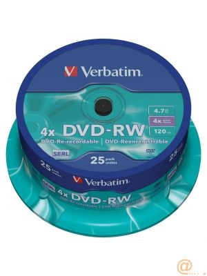 DVD-RW 4.7GB 4X 25PK