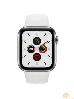 AW S5 CELL 44MM STEEL WHITE BAND