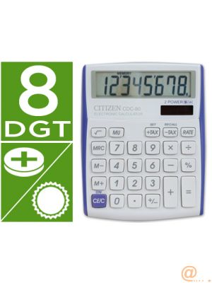 CALCULADORA CITIZEN SOBREMESA CDC-80 8 DIGITOS VIVID BORDES VIOLETA