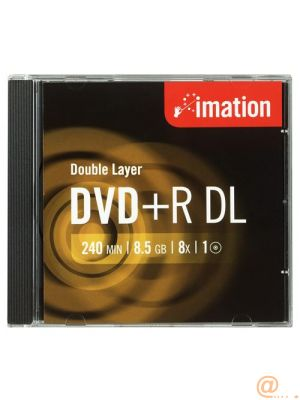 DVD+R DL 8X 10 PK SLIM 8.5GB IMATION