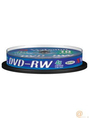 DVD-RW VERBATIM CAPACIDAD 4,7 GB VELOCIDAD 4X PACK 10 UNIDADES