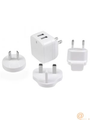 2PORT USB TRAVEL WALL CHARGER  CHAR