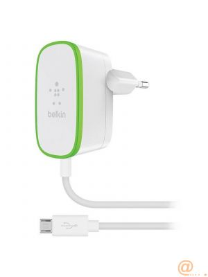 Home charger W/Wired MicroUSB CBL WHT