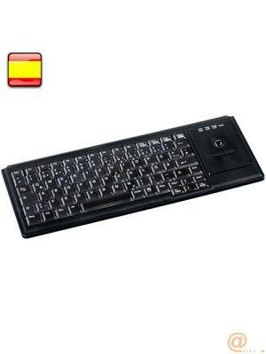 Keyboard trackball USB Black ES