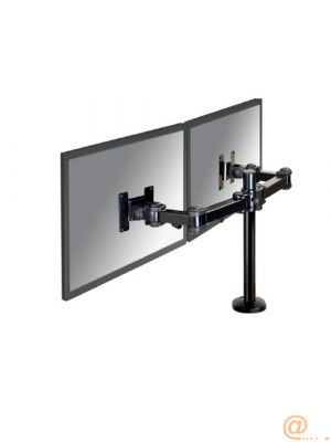 Desk Mount Dual 10-27'' Grommet BLACK