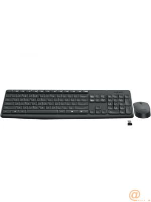 MK235 Wireless KBD+Mouse Grey CZ