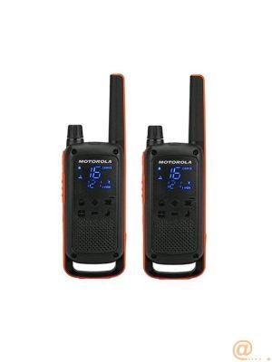 WALKIE-TALKIE MOTOROLA TLKR-T82 NEGRO PACKS 2 WALKIE-TALKIE MOTOROLA TLKR-T82 NEGRO PACKS 2  PMR446 10KM 16CANALES CLIP CINTURON VoX IMPERMEABL B8P00811EDRMAW
