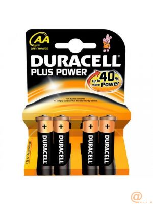 Duracell Pila Alcalina Plus Power LR6 AA Pack-4