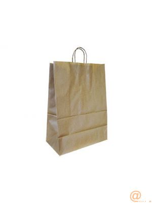 BOLSA KRAFT Q-CONNECT NATURAL ASA RETORCIDA 420X190X480 MM