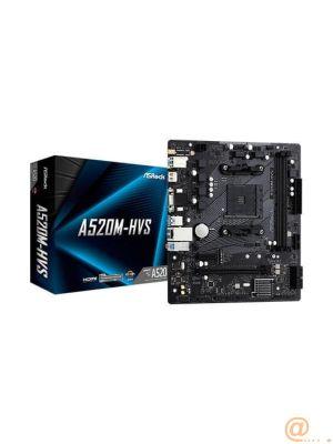 PLACA ASROCK A520M-HVS,AMD,AM4,A520,4DDR4,MATX
