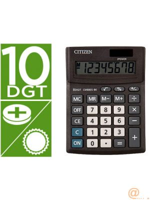 CALCULADORA CITIZEN SOBREMESA BUSINESS LINE ECO EFICIENTE SOLAR Y PILAS 10 DIGITOS 136X100X32 MM
