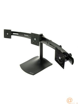 33-323-200/DS100 3 Screen Desk Stand Blk