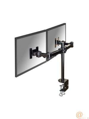 DESK MOUNT DUAL 10-27IN BLACK  ACCS