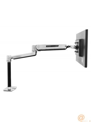LX Sit Stand Desk Mount LCD Arm Polish