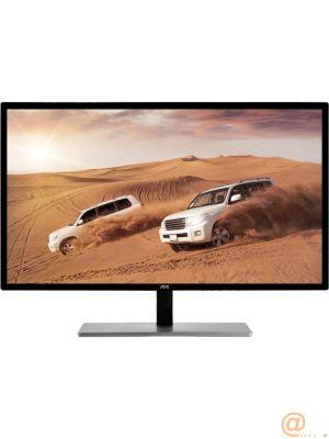 AOC Featured U2879VF - Monitor LED - 28'' (27.9'' visible) - 3840 x 2160 4K UHD (2160p) - 300 cd/m² - 1000:1 - 1 ms - HDMI (MHL), VGA, DVI-D, DisplayPort- negro y plata