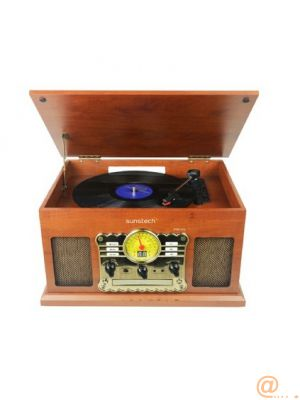 Wooden turntable Bluetooth Radio MP3 USB