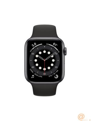 Apple Watch Series 6 GPS, 44mm Space Gray Aluminium Case with Black Sport Band - Regular