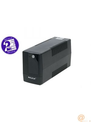 SAI UPS 800VA PHASAK INTERACT BASIC AVR 2SCHUKO PH9408 Phasak PH 9408, 800 VA, 480 W, 162 V, Type F (Schuko), 6 h, Negro