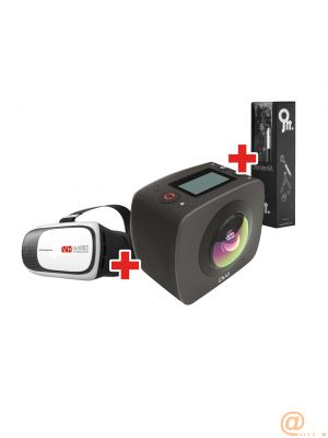 Kit camara 360 gigabyte 360 jolt duo +gafas vr+kit accesorios