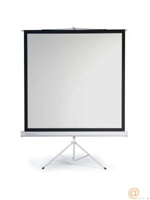 Pantalla manual tripode videoproyector phoenix 112pulgadas  ratio 1:1 - 4:3 - 16:9 2m x 2m posicion ajustable - carcasa blanca - tela super resistente