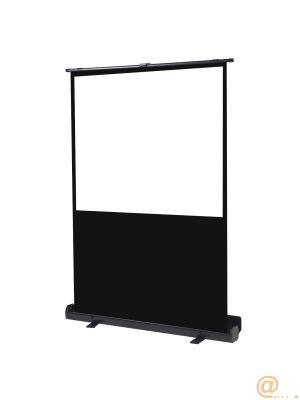 Pantalla manual portatil  de suelo videoproyector phoenix 72pulgadas ratio 4:3 - 16:9 1.45m x 1.10m posicion ajustable - carcasa negra - tela super resistente