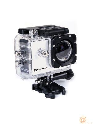 Video camara deportiva sport phoenix phtravelercam pantalla 1.5pulgadas tft fhd 1080p 30fps 12mpx  resistente al agua  30m estabilizador de imagen micro hdmi incluye accesorios  color plata