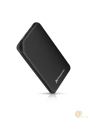 Bateria externa portatil phoenix powerbank 10000mah 2a 2 usb y tipo c phoenix negra