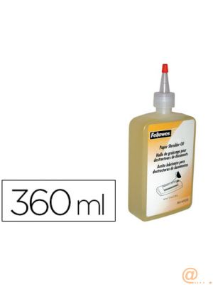 ACEITE LUBRICANTE FELLOWES PARA DESTRUCTORA DE DOCUMENTOS360 ML.