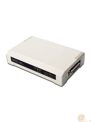 SERVIDOR DIGITUS DE IMPRESION PARALELO 3 PUERTOS 1X RJ45 2X USB A 1X DB-36 MALE