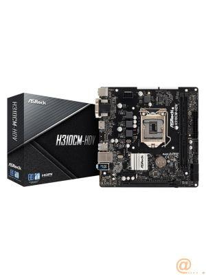 PLACA ASROCK H310CM-HDV,INTEL,1151,H310,2DDR4,64GB,VGA+DVI+HDMI,GBLAN,4SATA3,4USB3.1,MATX