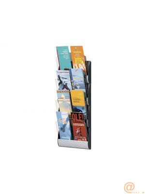 EXPOSITOR MURAL FAST-PAPERFLOW 4 CASILLAS 1/3 DIN A4 /DIN A5 COLOR ALUMINIO 690X232X90 MM