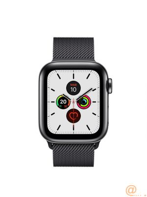 Apple Apple Watch Series 5 GPS + Cellular, 40mm Space Black Stainless Steel Case with Space Black Milanese Loop