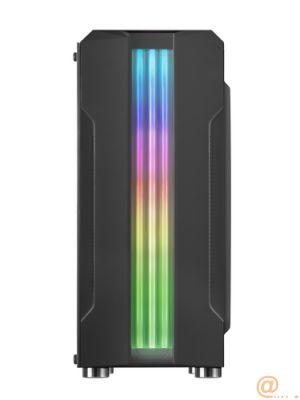 CAJA SEMITORRE MARS GAMING MCK NEGRA - USB3.0 - USB2.0 - HD AUDIO+MIC - ADMITE GRAFICAS HASTA 300MM - LATERAL CRISTAL TEMPLADO - TRIPLE FRANJA LED RGB