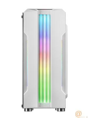 CAJA SEMITORRE MARS GAMING MCK BLANCA - USB3.0 - USB2.0 - HD AUDIO+MIC - ADMITE GRAFICAS HASTA 300MM - LATERAL CRISTAL TEMPLADO - TRIPLE FRANJA RGB