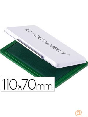 TAMPON Q-CONNECT N.2 110X70 MM VERDE