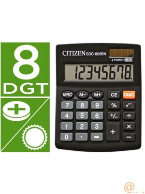 CALCULADORA CITIZEN SOBREMESA SDC-805 BN 8 DIGITOS