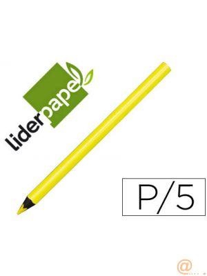 LAPICES DE COLORES LIDERPAPEL JUMBO NEON AMARILLO