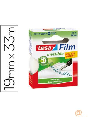 CINTA ADHESIVA TESA FILM INVISIBLE 33X19 MM ECOLOGICA