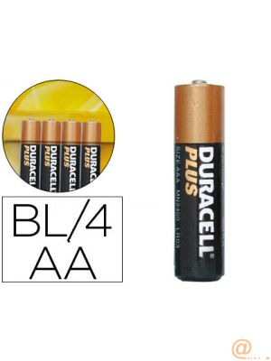 DURACELL PILAS PLUS POWER LR06 ALCALINAS AA 1.5V PACK-4
