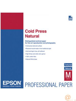 EPSON PAPEL INKJET ARTISTICO COLD PRESS NATURAL A3+ 25 HOJAS