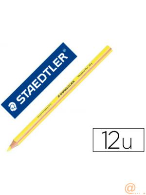 LAPICES FLUORESCENTE STAEDTLER TRIANGULAR TOP STAR AMARILLO CAJA DE 12 UNIDADES