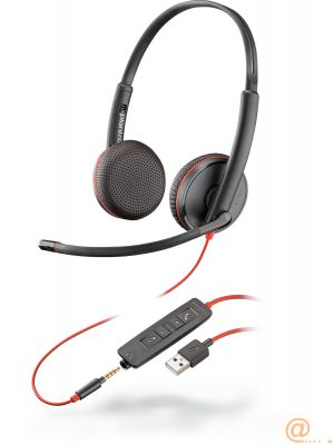 Plantronics Blackwire C3225 USB-A Auricular Biaural