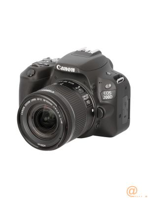 Camara digital reflex canon eos 200d + 18 - 55stm cmos -  24.2mp -  digic 7 -  9 puntos de enfoque -  negro